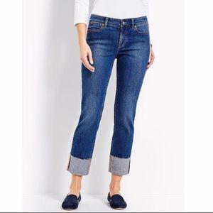 Talbots sz 12 Straight Leg Cropped Jeans